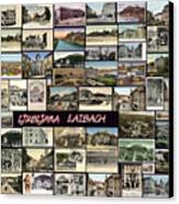 Old Ljubljana Collage Canvas Print