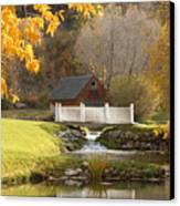 Old Mill In Autumn Canvas Print