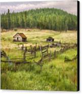 Old Montana Homestead Canvas Print by Sharon Foster
