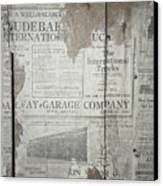 Old News Canvas Print