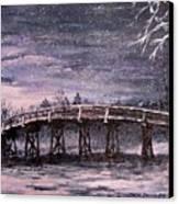 Old North Bridge In Winter Canvas Print