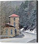 Old Paint Mill Winter Time Canvas Print
