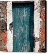 Old Painted Door Canvas Print