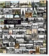 Old Paris Collage Canvas Print by Janos Kovac