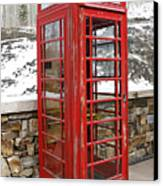 Old Phone Booth Canvas Print