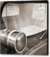 Old Police Car Siren Canvas Print