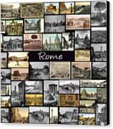 Old Rome Collage Canvas Print by Janos Kovac