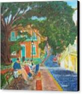 Old San Juan Street Scene Canvas Print