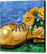 Old Shoe Planter Canvas Print