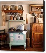 Old Time Farmhouse Kitchen Canvas Print by Carmen Del Valle