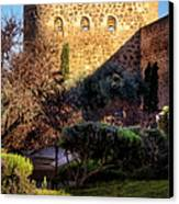 Old Town Walls Toledo Spain Canvas Print by Joan Carroll
