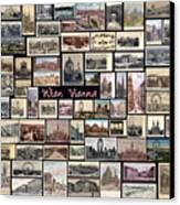 Old Vienna Collage Canvas Print