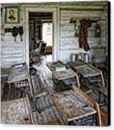 Oldest School House C. 1863 - Montana Territory Canvas Print by Daniel Hagerman