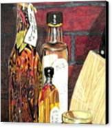 Olive Oil Bottles Canvas Print