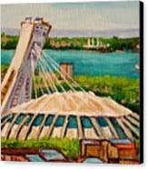 Olympic Stadium  Montreal Canvas Print by Carole Spandau