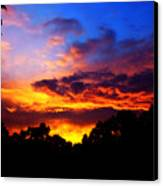 Ominous Sunset Canvas Print by Clayton Bruster