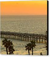 On Golden Pier Canvas Print by Gary Zuercher