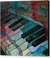 On Key - Keyboard Painting Canvas Print by Susanne Clark