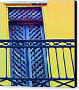 On The Balcony Canvas Print