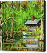 On The Bayou Canvas Print