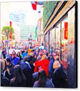 On The Day Before Christmas . Stockton Street San Francisco . Photo Artwork Canvas Print