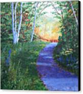 On The Path Canvas Print