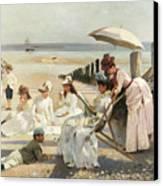 On The Shores Of Bognor Regis Canvas Print by Alexander M Rossi