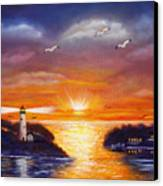 One Glorious Sunset Canvas Print