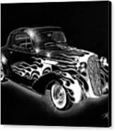 One Hot 1936 Chevrolet Coupe Canvas Print by Peter Piatt