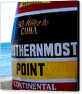 Only 90 Miles To Cuba Canvas Print