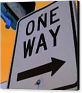 Only One Way Canvas Print by Karol Livote