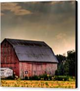 Ontario Barn In The Sun Canvas Print by Tim Wilson
