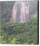 Opaekaa Falls On Kauai During A Storm Canvas Print