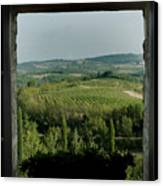 Open Window Looking Out On The Tuscan Canvas Print