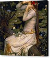 Ophelia Canvas Print by John William Waterhouse