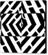 Optical Illusion Maze Of Floating Box Canvas Print