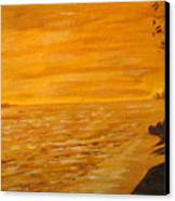 Orange Beach Canvas Print