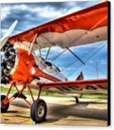 Orange Bi-plane Canvas Print by Dan Crosby