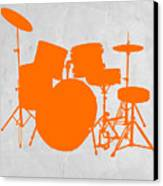 Orange Drum Set Canvas Print by Naxart Studio