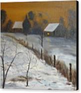 Orange Night Canvas Print