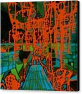 Orange Palas Canvas Print