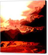 Orange Sunset Canvas Print by Kimberly Camacho