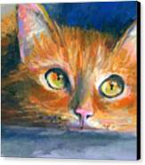 Orange Tubby Cat Painting Canvas Print by Svetlana Novikova