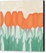 Orange Tulipans Canvas Print