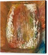 Orange Vase Canvas Print by Gregory Dallum