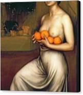 Oranges And Lemons Canvas Print by Julio Romero de Torres