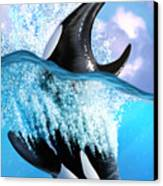Orca 2 Canvas Print by Jerry LoFaro