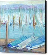 Oregon Harbor Canvas Print by Barbara Anna Knauf