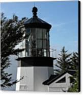 Oregon Lighthouses - Cape Meares Lighthouse Canvas Print by Christine Till