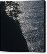 Oregon Silhouette Canvas Print
